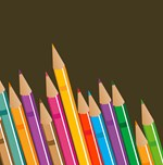 Colored Pencils Shower Curtain & Home Goods