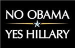 NO OBAMA, YES HILLARY