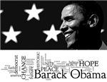 Obama Words Black & White
