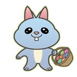 Blue Easter Bunny T-Shirts & Gifts