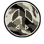 Camouflage Pattern Peace Sign T-Shirts & Gifts
