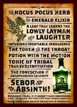Absinthe Sebor Vintage Liquor Sign Advertisment