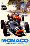 Monaco Vintage 1967 Grand Prix Auto Racing Adverti