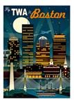 TWA Fly to Boston Print