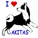 Akita love,with dog jumping on back