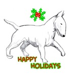 bull terrier, happy holidays