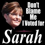 Don't Blame Me I Voted for Sarah