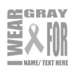 Gray Awareness Ribbon Customized