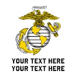 Marine Corps Symbol Personalized
