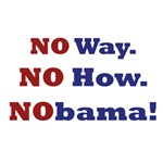 No Way.  No How. NObama!