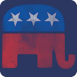 Vintage Republican Elephant T-Shirt