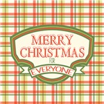 Vintage Christmas Plaid Badge