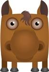 Horse Modern Animal Icon