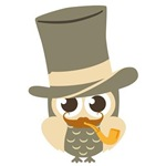 Top Hat Hipster Owl