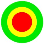Green Yellow and Red Circles
