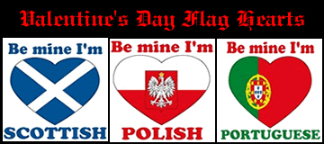Valentine's Day Heart Flags