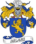 Milans Family Crest / Milans Coat of Arms