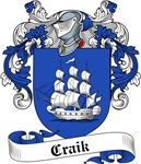 Craik Family Crest, Coat of Arms