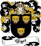 Bigot Family Crest, Coat of Arms