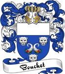 Bouchet Family Crest, Coat of Arms