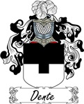 Dente Family Crest, Coat of Arms