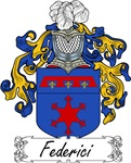 Federici Family Crest, Coat of Arms