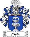 Fonte Family Crest, Coat of Arms