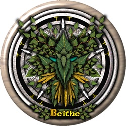 Birch Celtic Greenman Pentacle