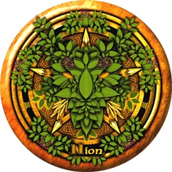 Ash Celtic Greenman Pentacle
