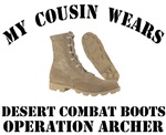 Operation Archer Cousin Desert Combat Boots