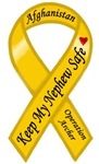 Afghanistan Keep My Nephew Safe Ribbon