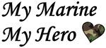 My Marine My Hero with Camouflage Heart