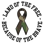 Land of the free Because of the brave Camouflage R