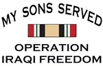 MY SONS SERVED - OIF CAMPAIGN MEDAL