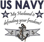 My Husband is defending your freedom!