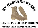 MY HUSBAND WEARS DESERT COMBAT BOOTS
