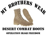 MY BROTHERS WEAR DESERT COMBAT BOOTS