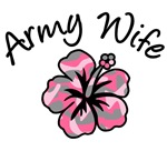 Military Wife Pink Camo Flower