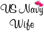US Navy Wife - With Pink Hearts