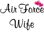 Air Force Wife - With Pink Hearts