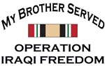 My Brother Served Iraq Campaign Medal OIF