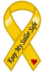 Keep My Sailor Safe Military Support Yellow Ribbon