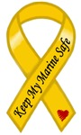 Keep My Marine Safe Military Support Yellow Ribbon
