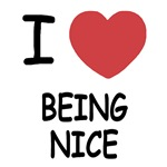 I heart being nice