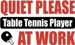Quiet Please Table Tennis Player At Work