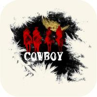 Cowboys riding