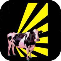 Retro cow