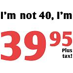 Funny Tax 40th Birthday Gag Gifts
