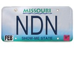 Missouri NDN license plate