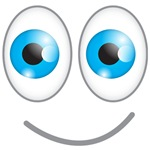 Funny face blue eyes
